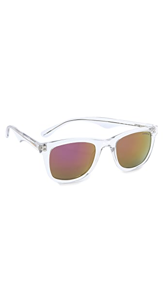 Carrera 6000 Crystal Sunglasses with Multilayer Pink Lens