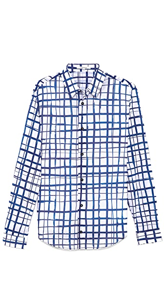 Carven Marker Check Sport Shirt