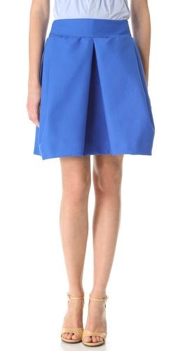 Carven Inset Pleat Skirt