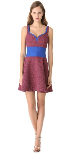 Carven Tweed Shaped Dress