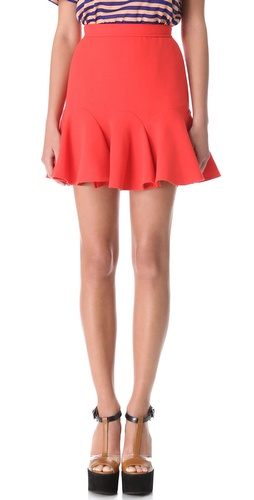Carven Double Crepe Flip Skirt