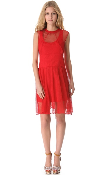 Carven Mesh Sleeveless Dress