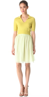 Carven Polo Top Full Skirt Dress