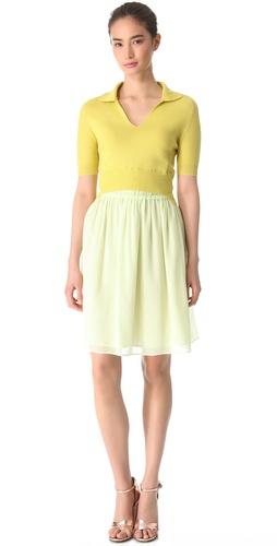Carven Polo Top Full Skirt Dress