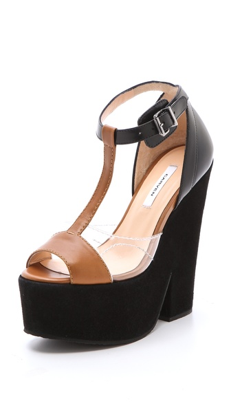 Carven T Strap Platform Sandals