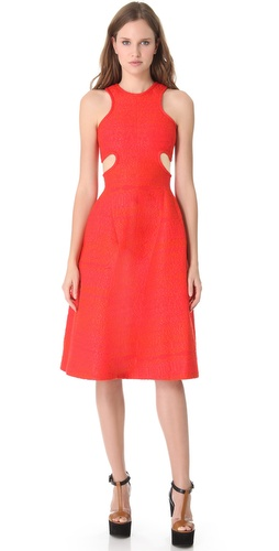 Carven Tweed Cutout Dress