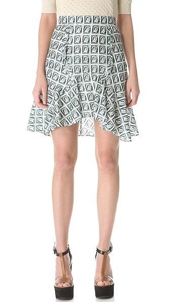Carven Stamped Structured Skirt