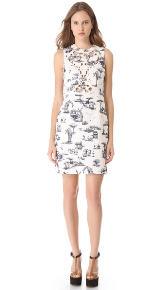 Carven Sleeveless Cutout Safari Dress