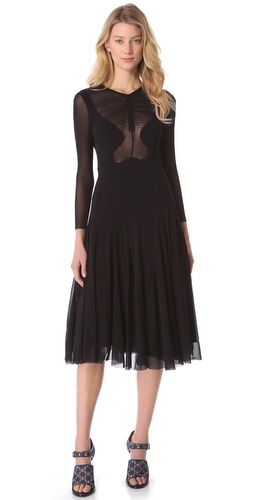 Carven Tulle Shaped Dress