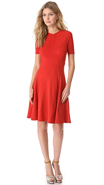Carven Short Sleeve Jersey Dress