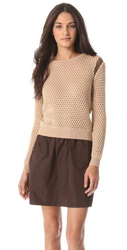 Carven Bicolor Cutout Sweater