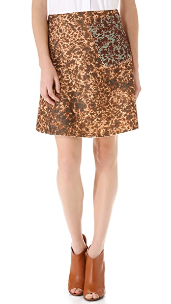 Carven Printed Skirt