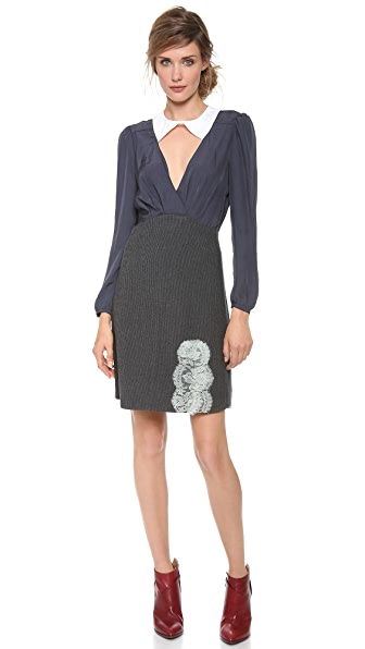 Carven Stripes Flannel Dress