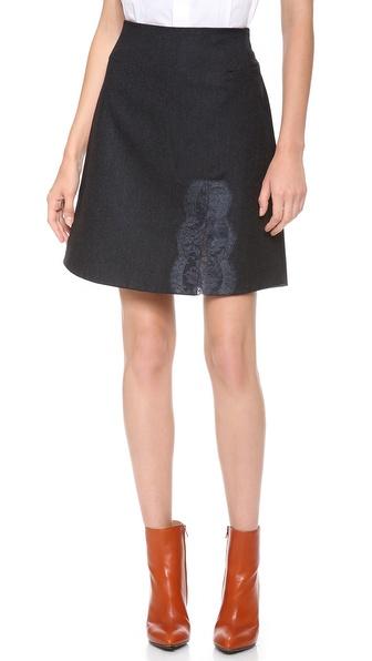 Carven Striped Flannel Skirt