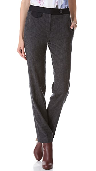 Carven Striped Flannel Pants