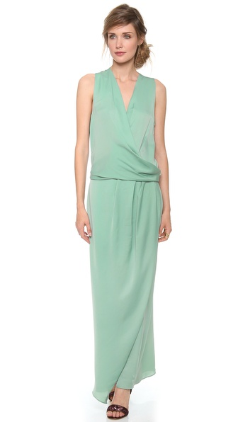 Carven Fluid Satin Sleeveless Dress