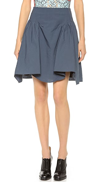 Carven Crumpled Poplin Skirt