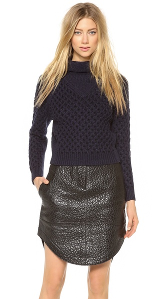 Carven Criss Cross Knit Sweater