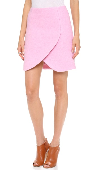 Carven Crushed Crossover Skirt