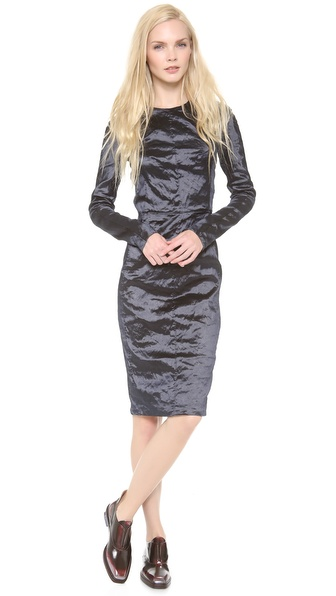 Carven Crinkle Taffeta Dress