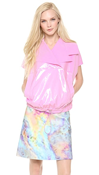 Carven Plastic Coated Pullover Top