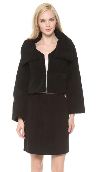 Carven Fleece Short Zip Jacket