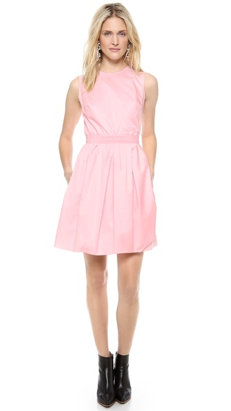 Carven Sleeveless Satin Dress