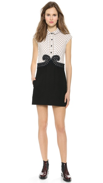 Carven Small Checked Poplin Dress