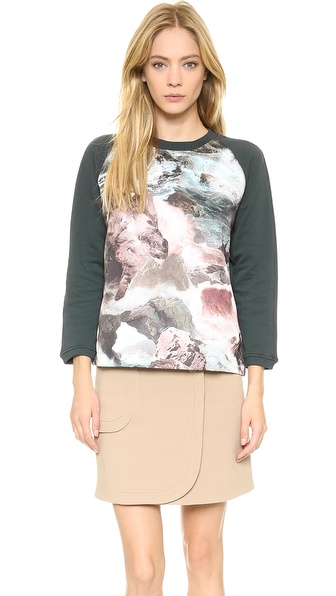 Carven Satin Panel Sweatshirt