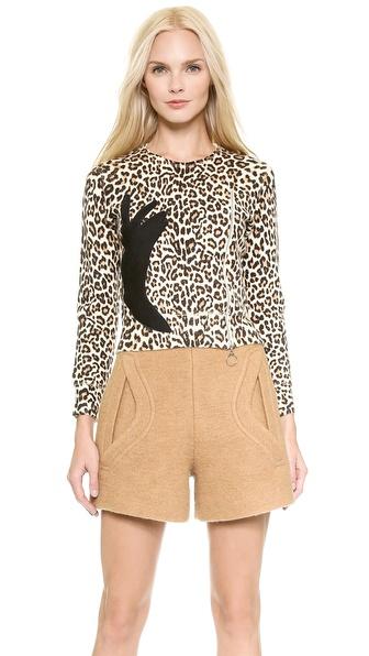 Carven Printed Leopard Sweater - Multi