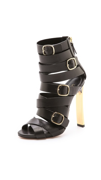 Casadei Buckled Cage Sandals