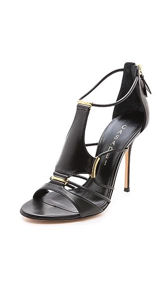 Casadei Strappy Stiletto Sandals