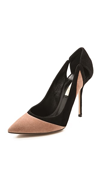 Casadei Cutout Suede Pumps