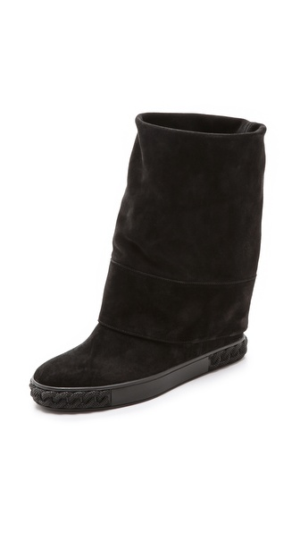 Casadei Renna Suede Boots - Black at Shopbop / East Dane