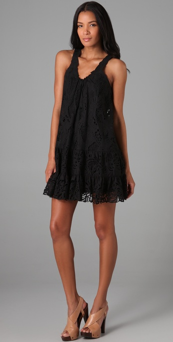 Catherine Malandrino Embroidered Shift Dress