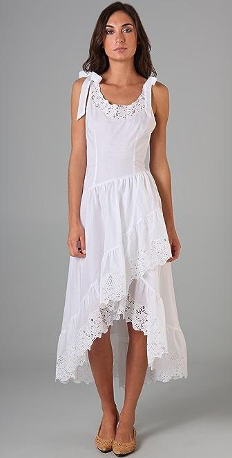 Catherine Malandrino Embroidered Maxi Dress