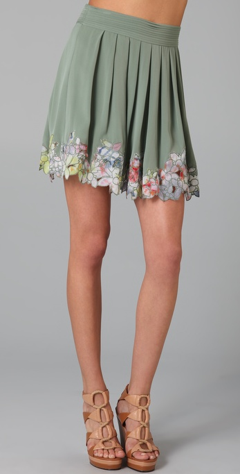 Catherine Malandrino Pleated Skirt