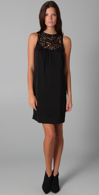 Catherine Malandrino Sleeveless Dress with Cutout Yoke
