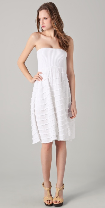 Catherine Malandrino Tiered Knit Dress / Skirt