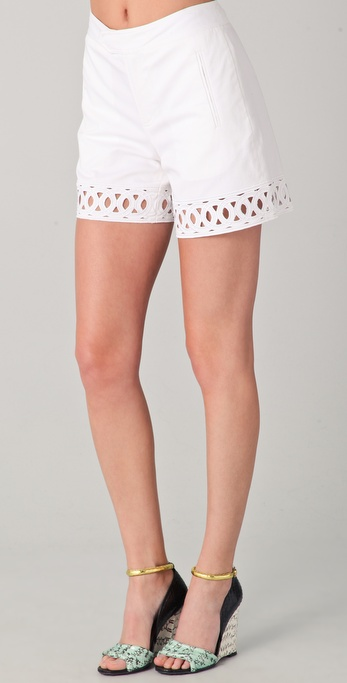 Catherine Malandrino Shorts with Cutouts