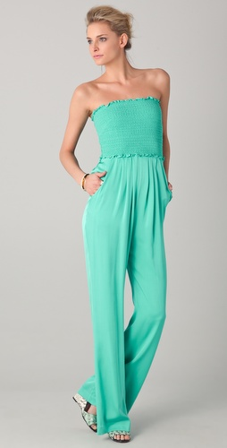 Catherine Malandrino Strapless Jumpsuit