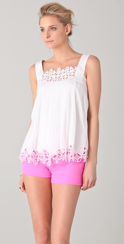 Catherine Malandrino Lace Detail Tank