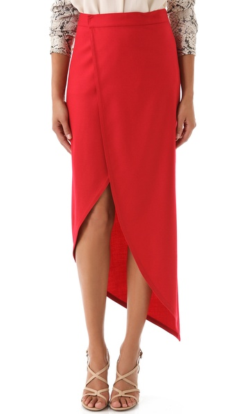 Catherine Malandrino Stretch Wool Skirt