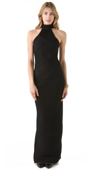 Catherine Malandrino High Neck Gown