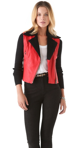 Catherine Malandrino Leather Jacket