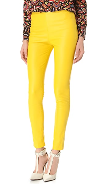 Catherine Malandrino Stretch Leather Pants