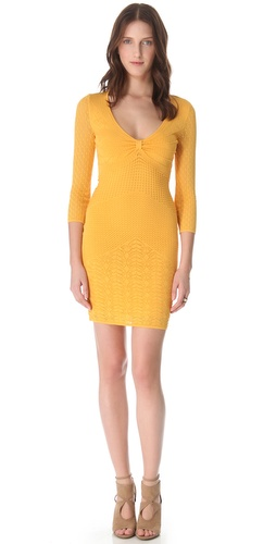 Catherine Malandrino 3/4 Sleeve Pointelle Dress