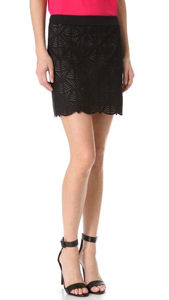 Catherine Malandrino Poplin Cutout Skirt