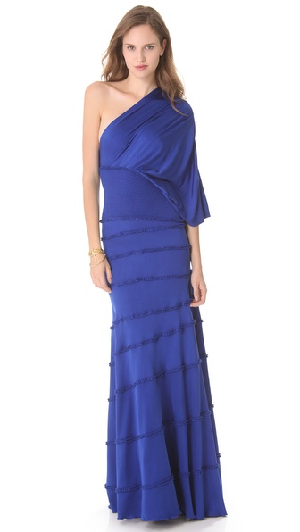 Catherine Malandrino One Shoulder Maxi Dress