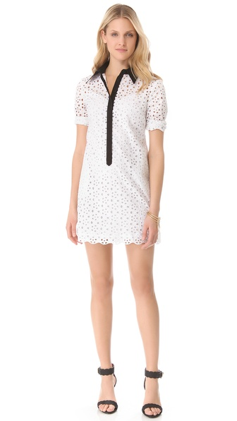 Catherine Malandrino Eyelet Shirtdress